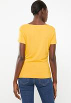 edit - Wrap over T-shirt - yellow