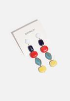 Superbalist - Stone drop earrings - multi