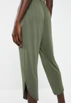 Superbalist - Strappy yoga jumpsuit with side pockets - khaki