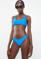 Bacon Bikinis - Tie bikini top - blue