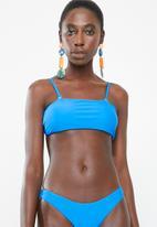 Bacon Bikinis - Bandeau bikini top - blue