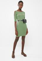 Sissy Boy - Sleeve cut detailed dress - green