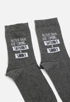 New Look - Better days sock - grey