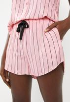 Superbalist - Sleep cami and shorts set -  pink & black