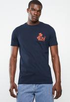 Superbalist - Printed crew neck tee - navy