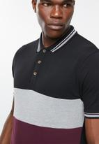 Superbalist - Pique short sleeve slim fit polo combo 2 pack - multi