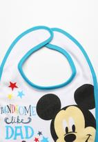 Character Baby - Mickey Mouse Jersey Bib Multi-colour