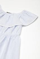 Superbalist - Frill ric rac stripe dress - blue