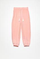 Superbalist - Kids girls harem pants - pink & white