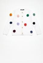 Superbalist - Pom pom cardigan - white