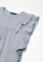 Superbalist - Butterfly sleeve dress - blue