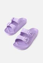 Cotton On - Twin strap slide - purple