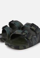 Cotton On - Twin strap slide - green