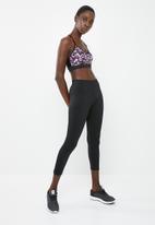 Superbalist - Strappy printed yoga crop bra - black & purple