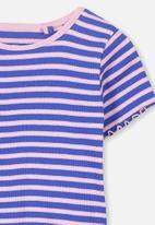Cotton On - Short sleeve Billie tee - purple & pink