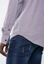 Superbalist - Slim fit long sleeve point collar shirt - multi