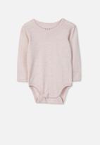 Cotton On - Long sleeve bubbysuit - pink