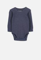 Cotton On - Long sleeve bubbysuit - navy