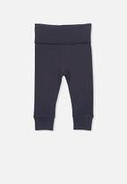 Cotton On - New born legging - black