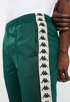 KAPPA - Banda rastoria rib slim sweatpants - green