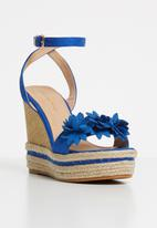 Sissy Boy - Espadrille flower wedges - blue