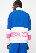 Asics Tiger - Colourblock woven full zip long sleeve jacket - blue