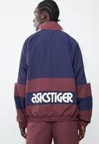 Asics Tiger - Colourblock woven full zip long sleeve jacket - navy