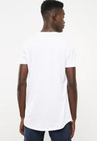 Superbalist - Curved hem longline tee printed  - white