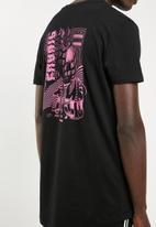 Superbalist - Curved hem longline tee printed - black