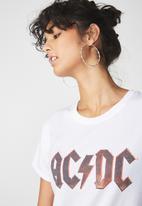 Cotton On - T bar fox graphic T-shirt -  white