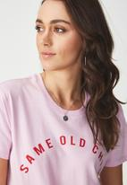 Cotton On - Tbar fox summer graphic T-shirt - pink