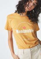 Cotton On - Tbar fox graphic T-shirt - yellow
