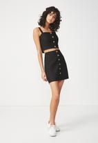 Cotton On - Woven medina mini skirt - black
