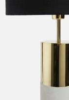 Sixth Floor - Bolu table lamp - gold/black