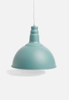 Sixth Floor - Utility pendant - turquoise