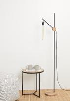 Emerging Creatives - Crane floor lamp - black/natural