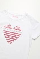 GUESS - Guess jeans heart girls tee - white