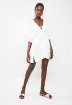 Superbalist - Short kaftan with drawstring - white