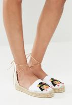 Espadril - Embroidered Espadrille - white