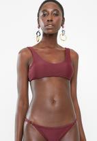 Bacon Bikinis - Tie bikini top - burgundy