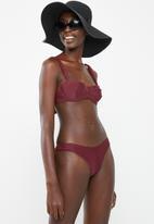Bacon Bikinis - Slit bikini top - burgundy