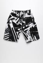 POP CANDY - Printed boardshorts - black & white