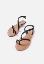 Cotton On - Everyday annie asymetric sandal - black