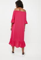 STYLE REPUBLIC - Maxi bardot dress - pink