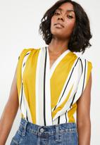 STYLE REPUBLIC - Wrap bodysuit - yellow