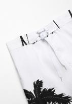POP CANDY - Palm tree boardshorts - white