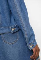 STYLE REPUBLIC - Studded trucker denim jacket - blue