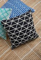 Sixth Floor - Keely woven cushion cover - black & white