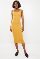 STYLE REPUBLIC - Basic bodycon dress - yellow