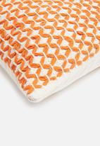 Sixth Floor - Kallan woven cushion cover - orange